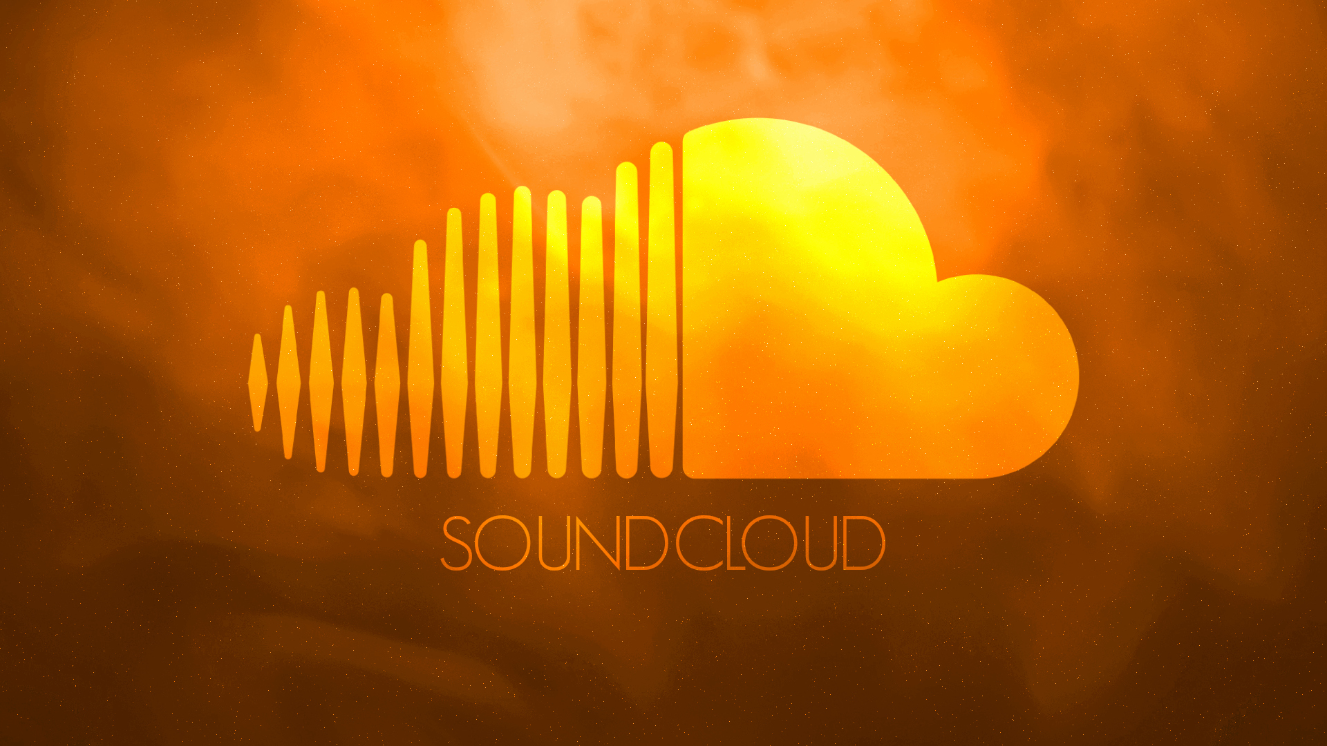 Soundcloud wallpaper   Orange Galaxy by ChrisFR06 1920x1080