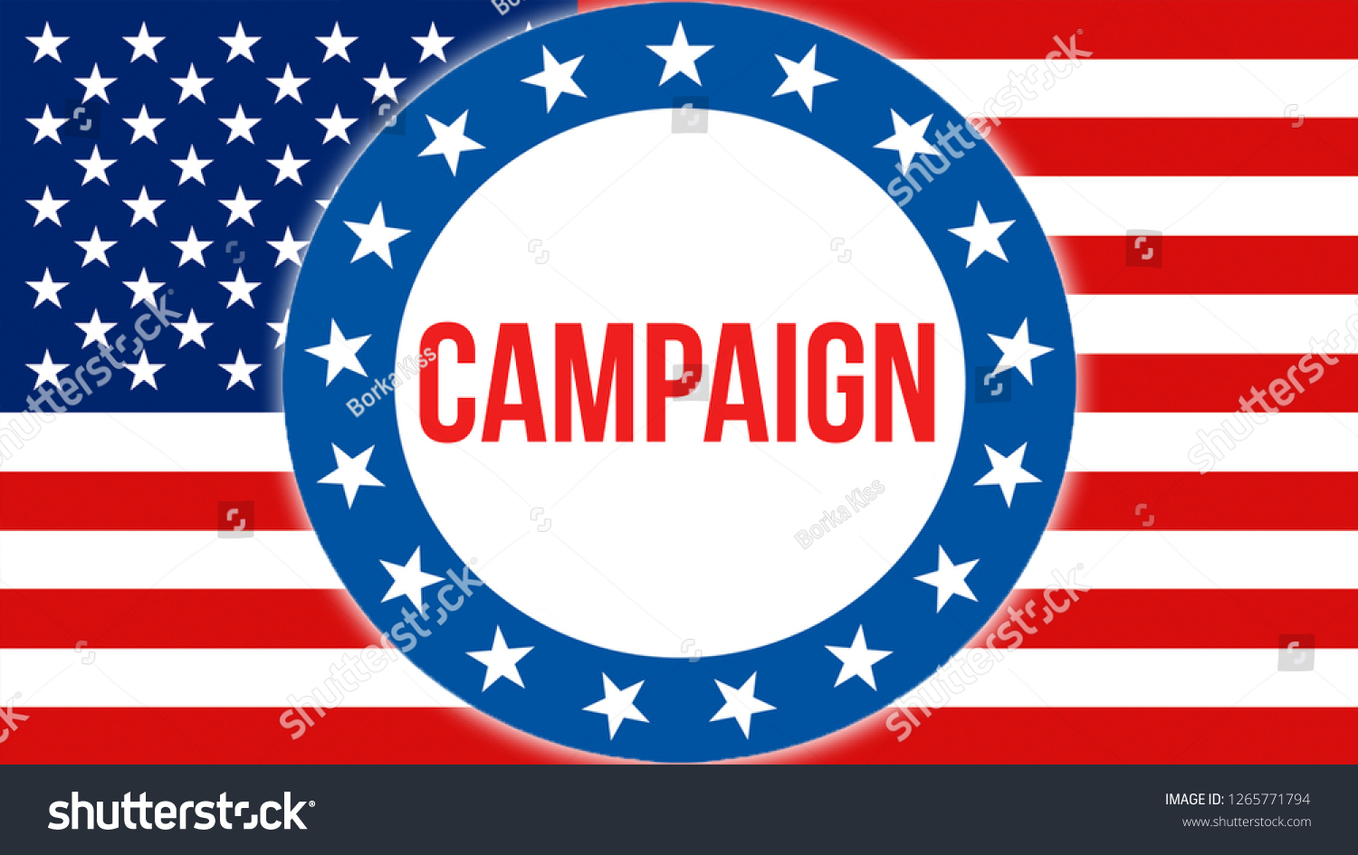 Campaign Election On Usa Background 3d Stock Illustration 1265771794 1500x945