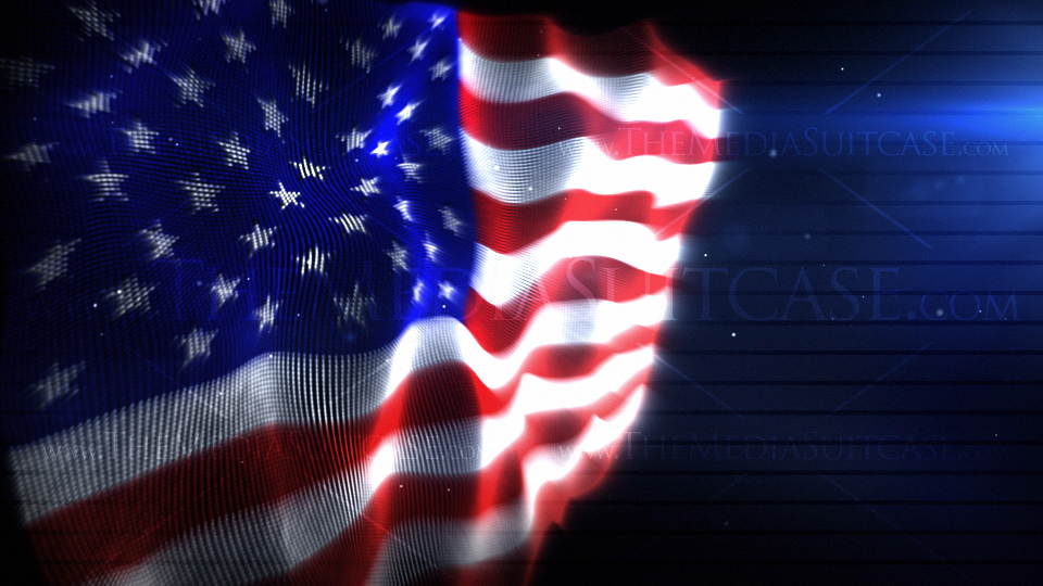 American Flag Background Video Loops seamlessly Made with an array 960x540