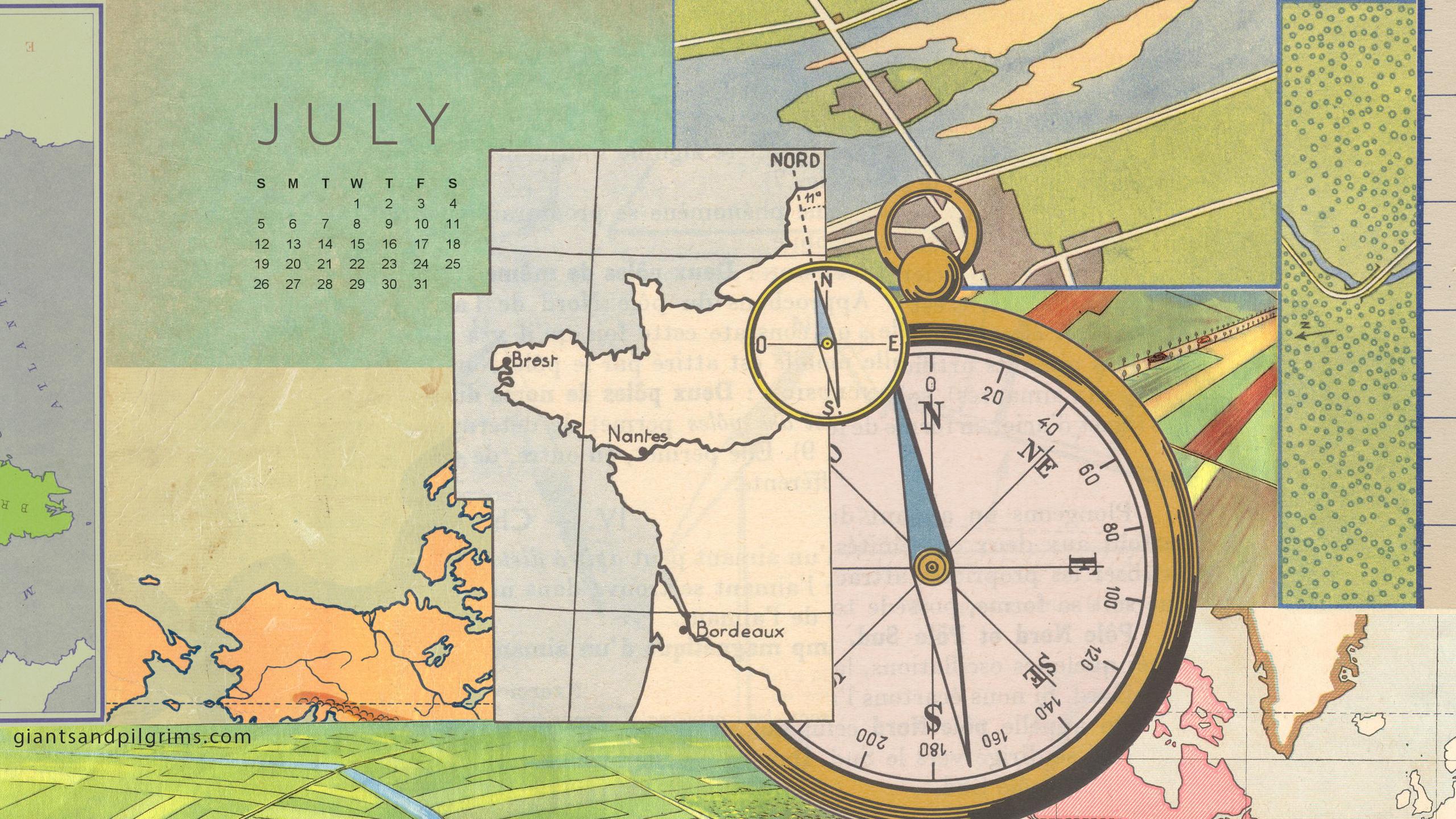 July 2015 Calendar Desktop and iPhone Wallpaper Giants 2560x1440