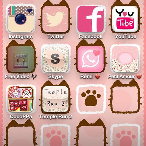 cocoppa pink rose cut app application instagram t Flickr 500x500