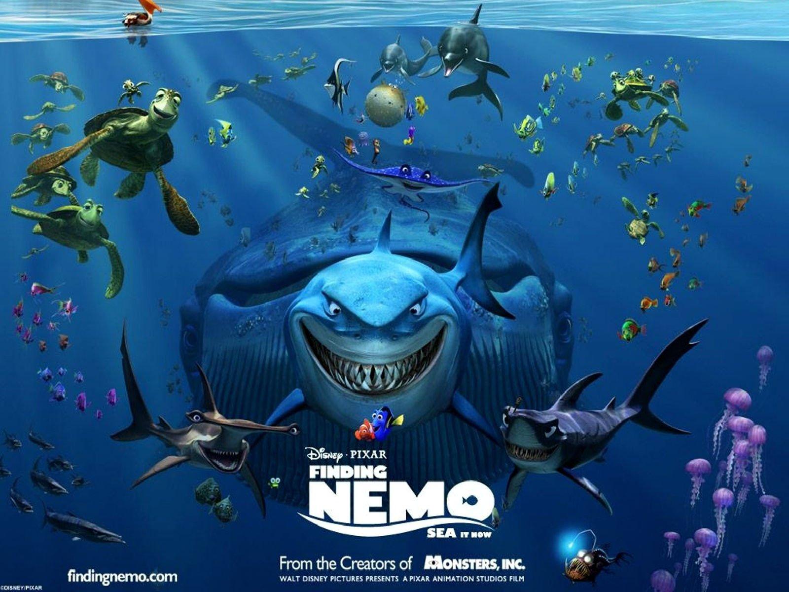 FINDING NEMO animation underwater sea ocean tropical fish adventure 1600x1200