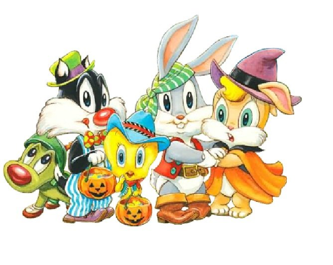 Baby Looney Tunes Halloween Wallpaper Coloring 669x533