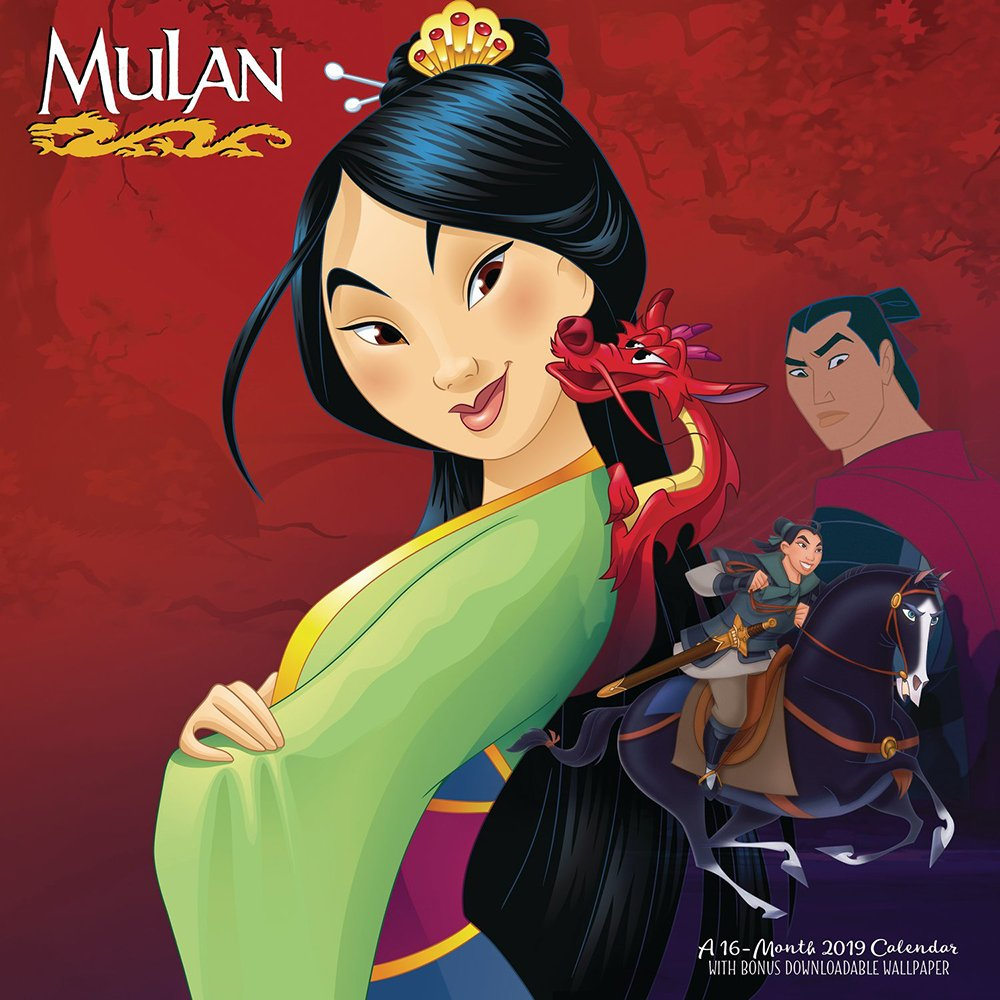 Amazoncom Mulan Wall Calendar 2019 9781635715125 Day Dream 1000x1000