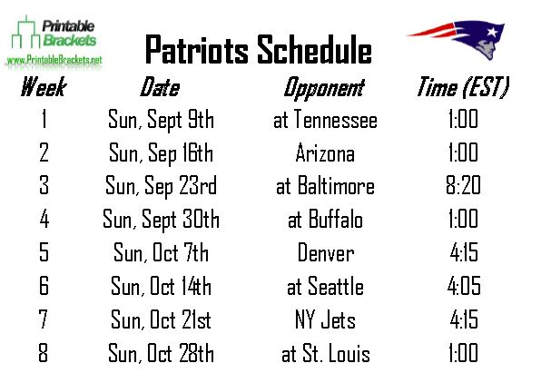 New England Patriots Schedule 2014 2015 Wallpapers Stock Find 607x411