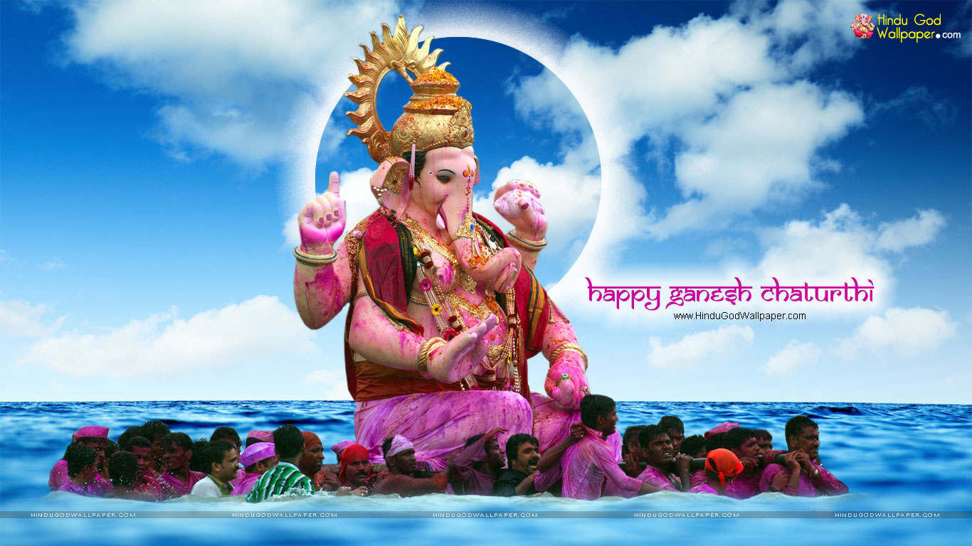 Ganesh Chaturthi Wallpapers Mumbai Download 1366x768
