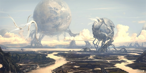 Fantasy Planet Wallpaper 500x251