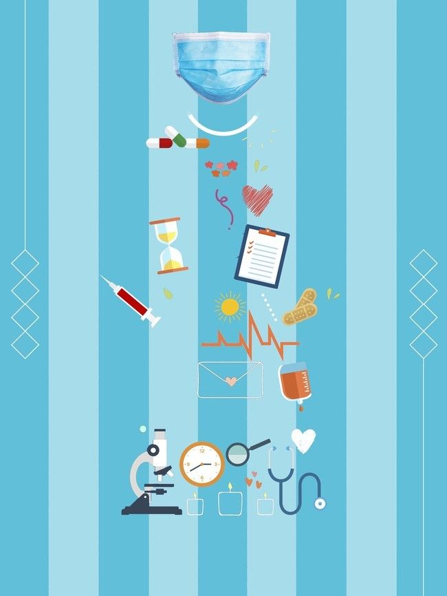 Cartoon Doctor Medical Health Poster Psd Layered Background 650x866