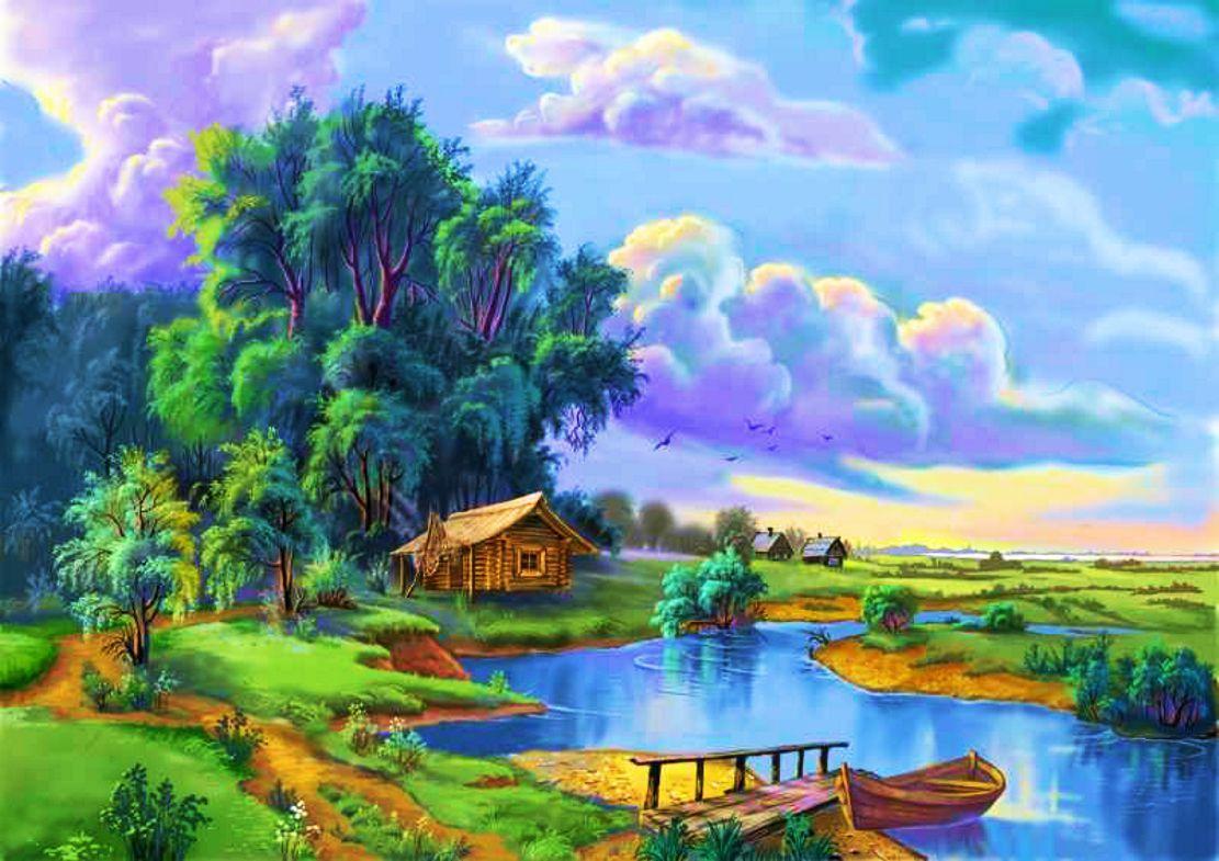 river scene wallpaper wallpapersafari