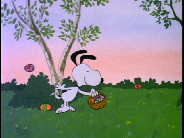 Snoopy Spring Wallpaper Easter snoopy 640x480