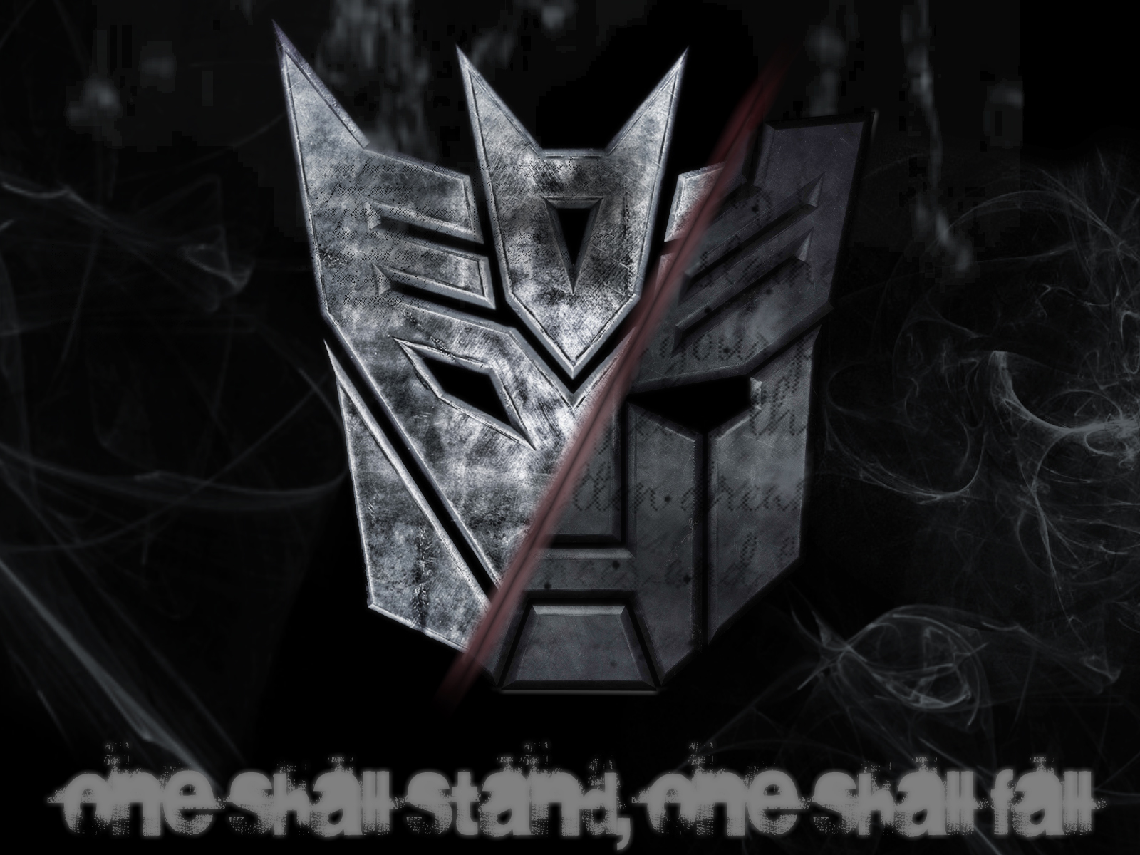 Me somewhere in between Autobots and Decepticons Made this wallpaper 1600x1200