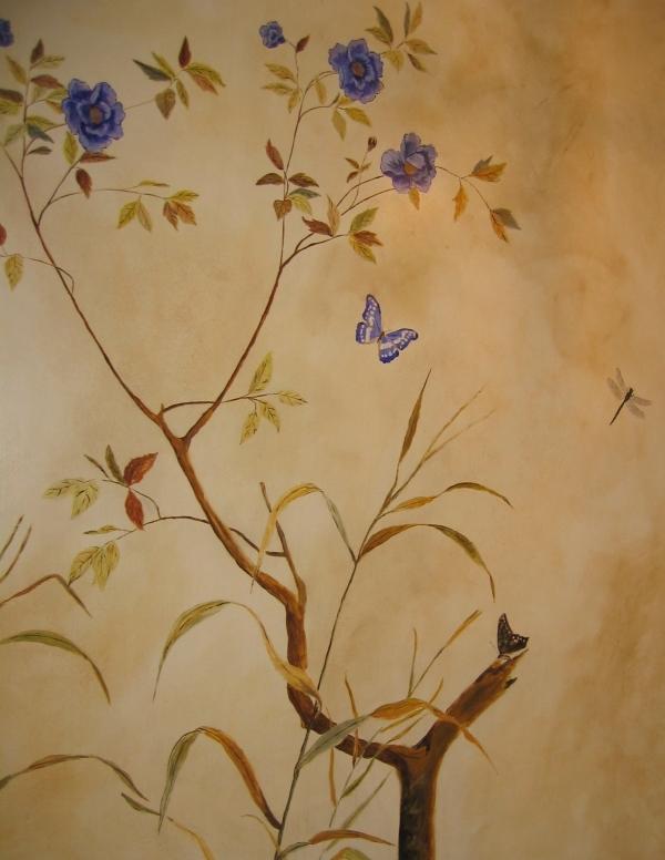 Hand Painted Wallpaper Mural Jess Arthur Mural Artist 600x776