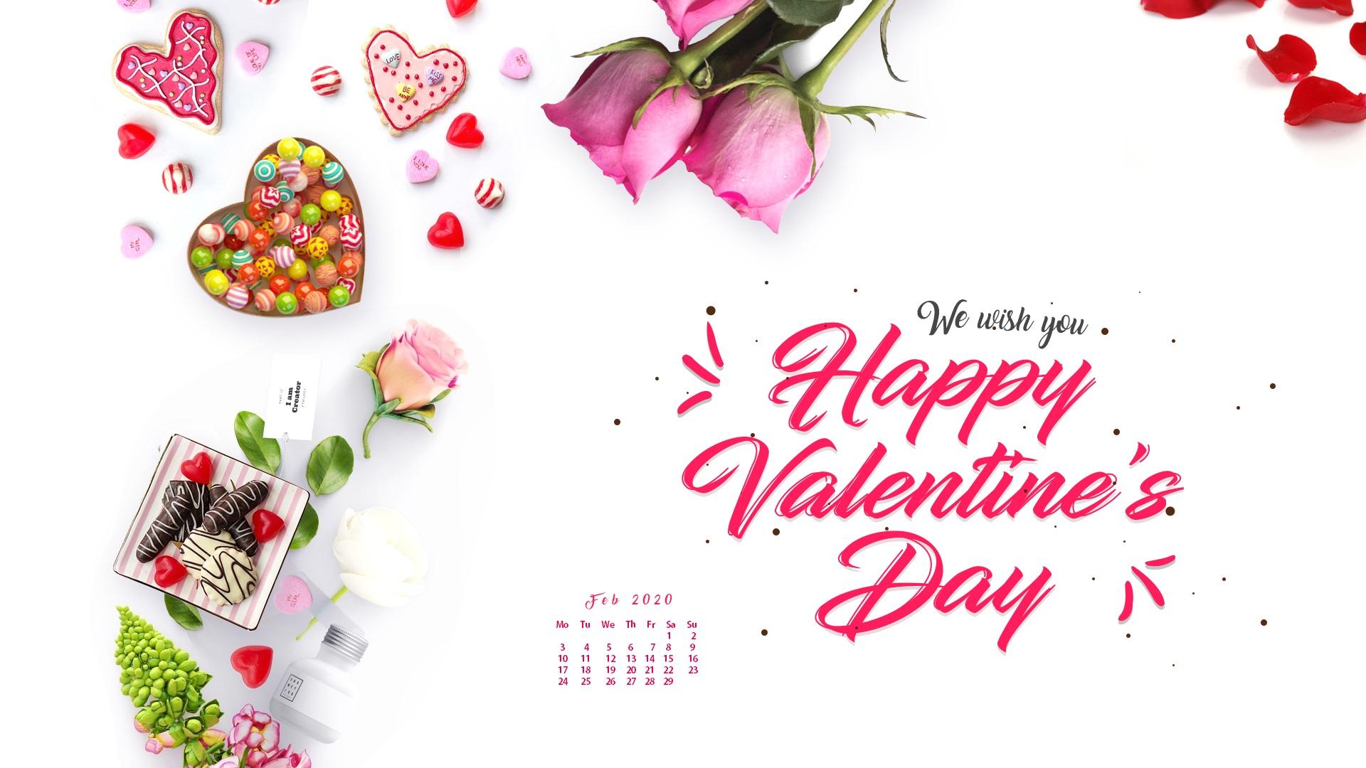 February 2020 Desktop Wallpaper Latest Calendar 1920x1080