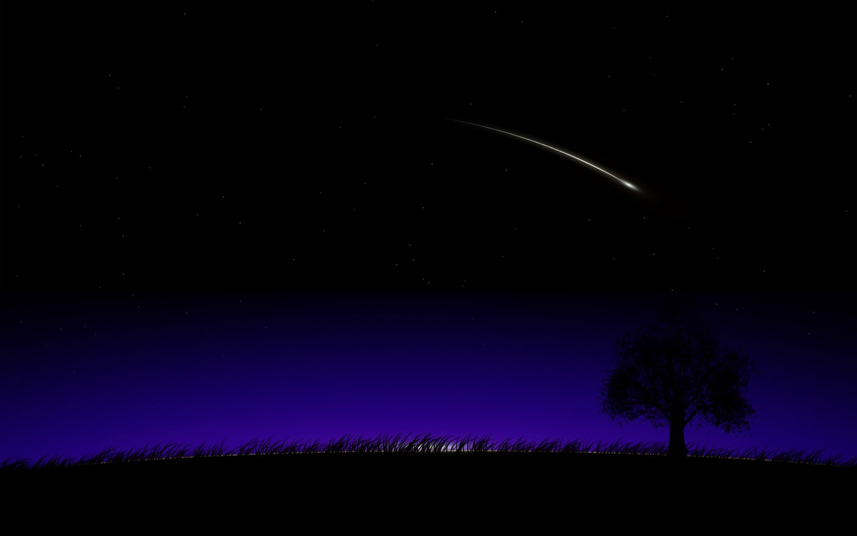 Night shooting star wallpaper 1680x1050 324328 1680x1050