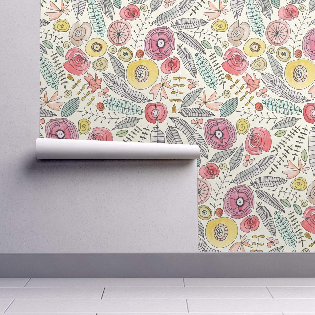 Free Download Peel And Stick Removable Wallpaper Watercolor Floral
