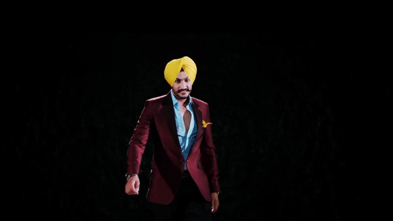 Rajvir Jawanda Yellow Turban Purple Suit Wallpaper 10342   Baltana 1600x900