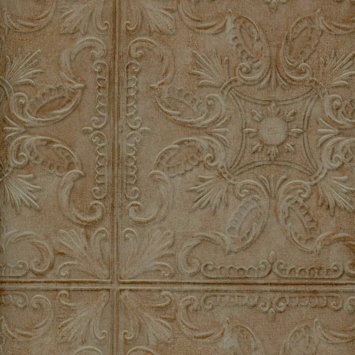 Wallpaper Old Fashion Classic Tin Ceiling Tile Look Faux Verdigris 700x700