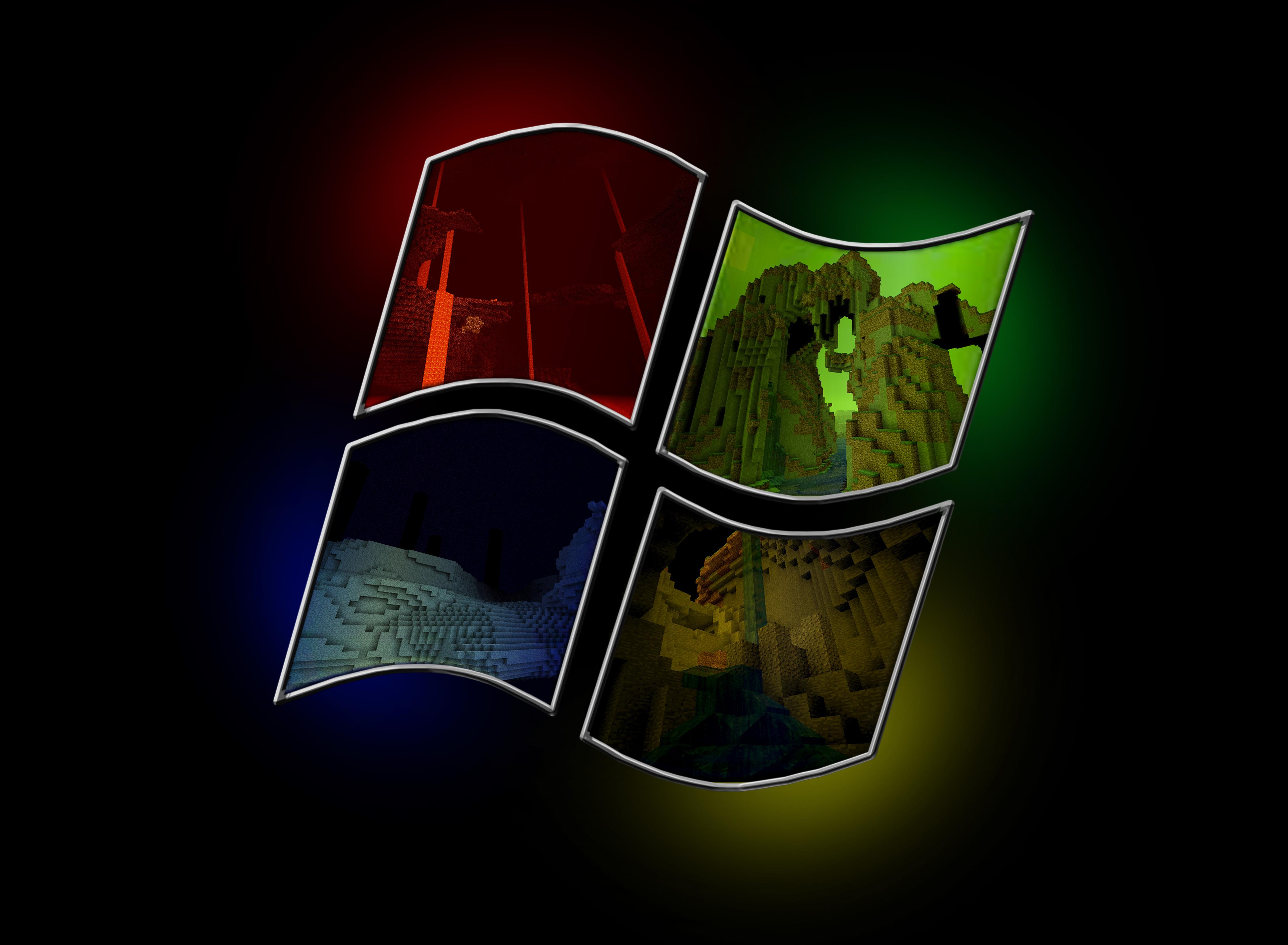 Minecraft Wallpaper Windows 7 Minecraft windows by lulizar 4500x3303