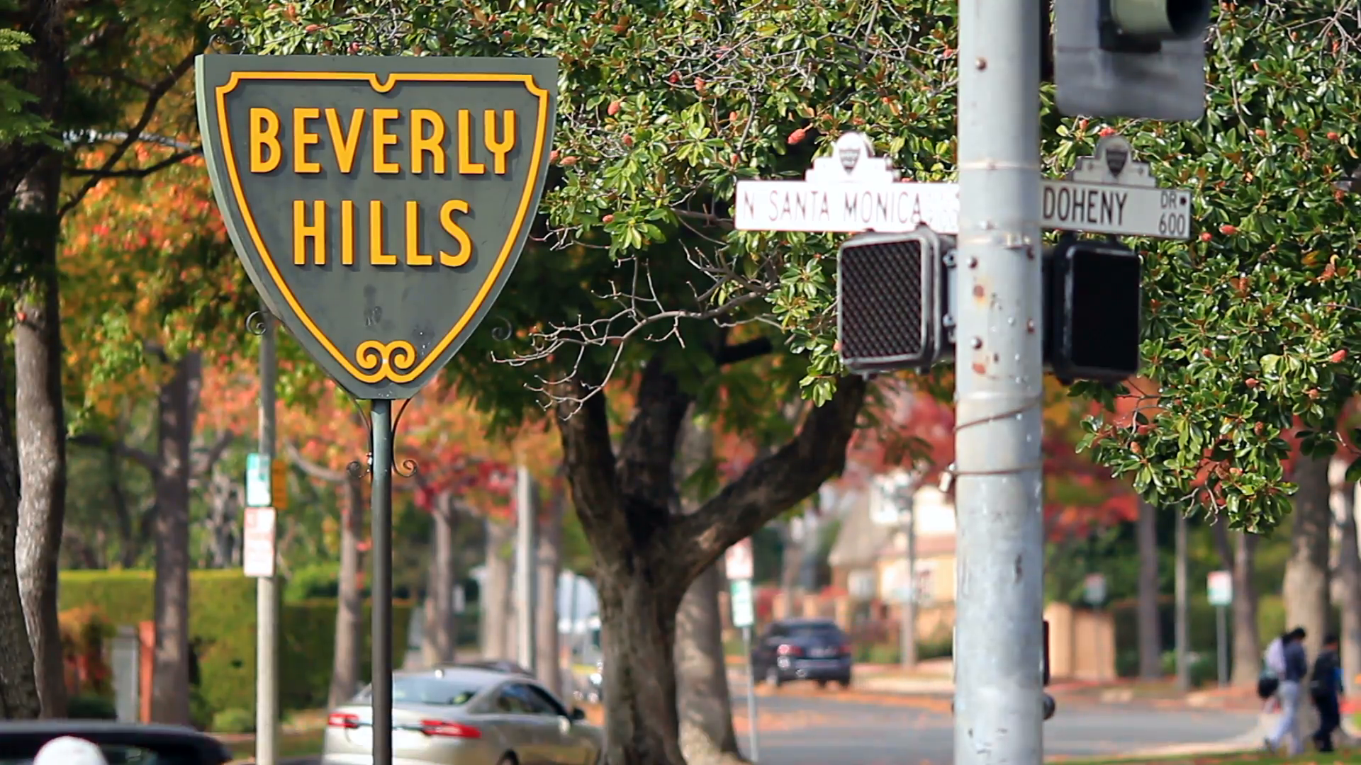 Beverly HIlls Sign 1 The iconic Beverly Hills sign marking the 1920x1080
