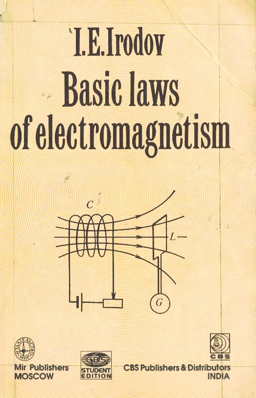BASIC LAWS OF ELECTROMAGNETISM BY I E IRODOV PDF
