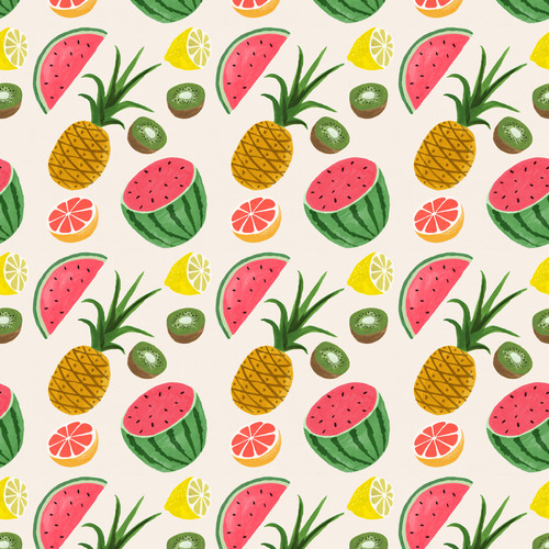 Pattern and Co   Poolga Ruby Taylor   Tropical Fruits 500x500