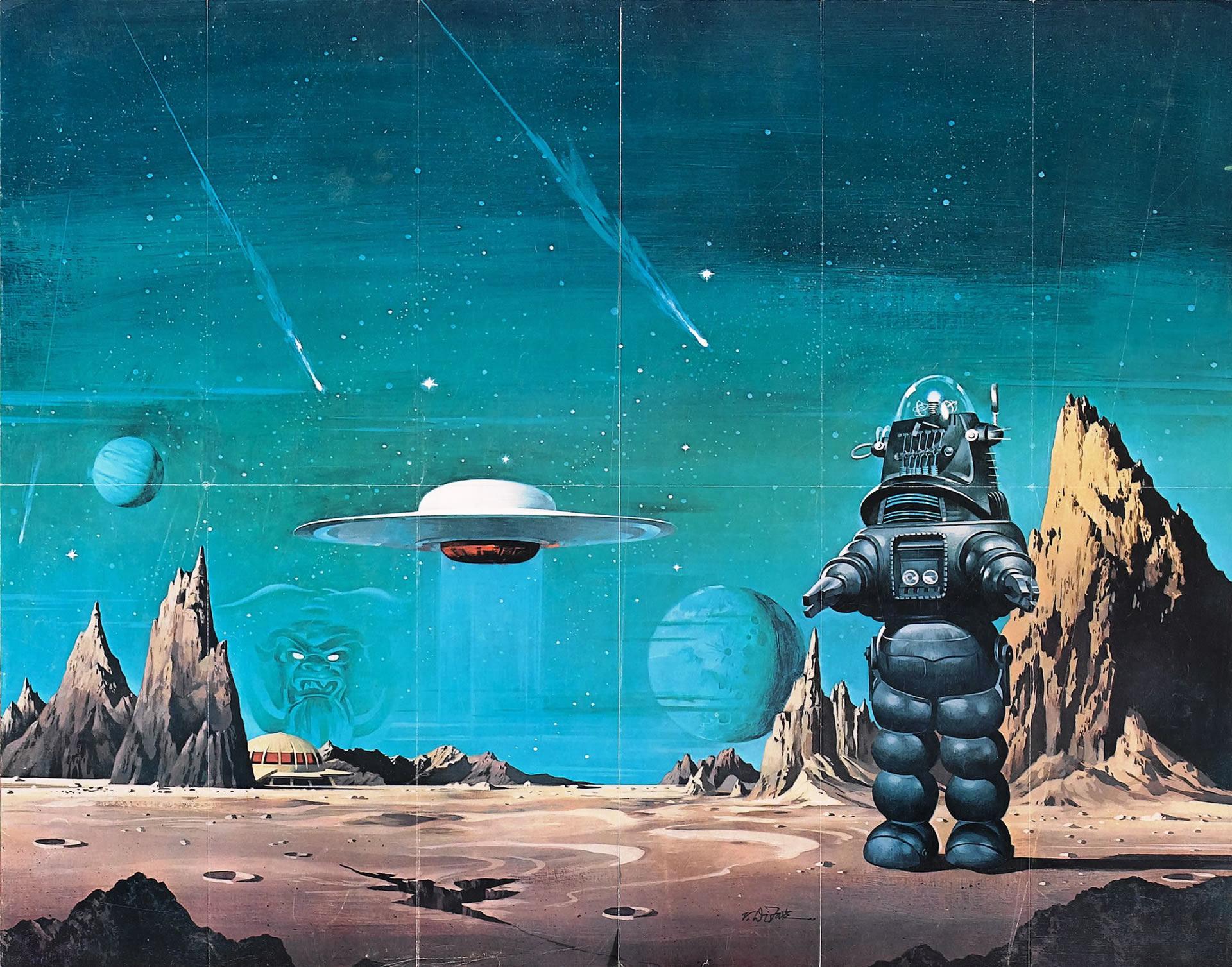 Forbidden Planet Iii   1950s B Movie Posters Wallpaper Image 1920x1507