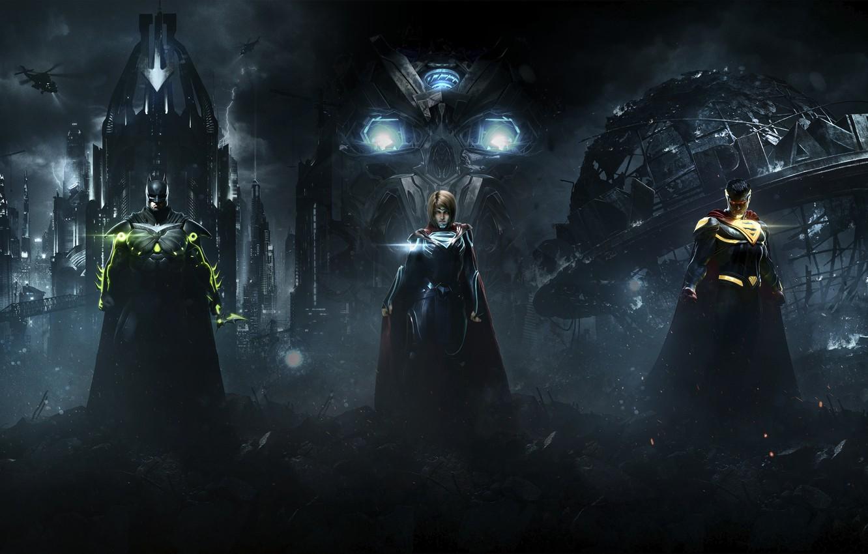 Wallpaper Batman Superman Supergirl Warner Bros Interactive 1332x850