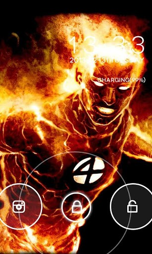 Human Torch GO Locker App for Android 307x512
