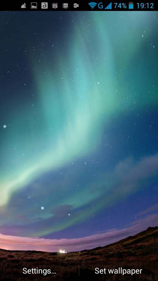 Free Download Northern Lights Live Wallpaper Android Apps On