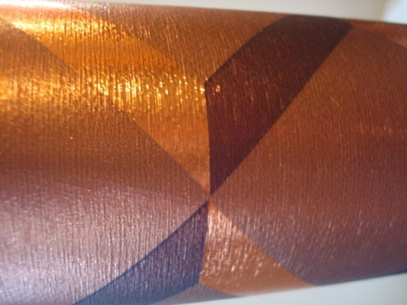 Vtg Wallpaper Wall Paper Copper Textured by judygovintage on Etsy 570x428
