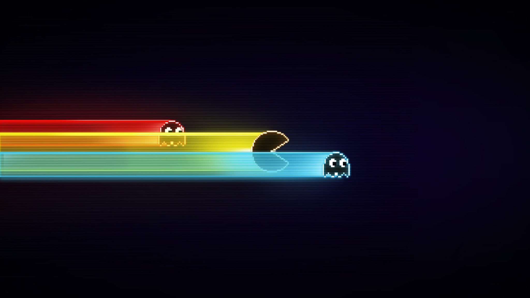 Wallpaper 2048x1152 Pacman Game Graphics Speed Harassment HD HD 2048x1152