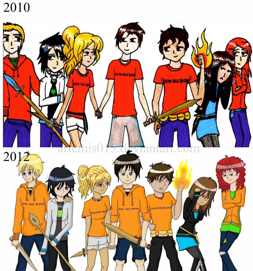 Compare Campers from Camp Half Blood by Artemis015 863x925