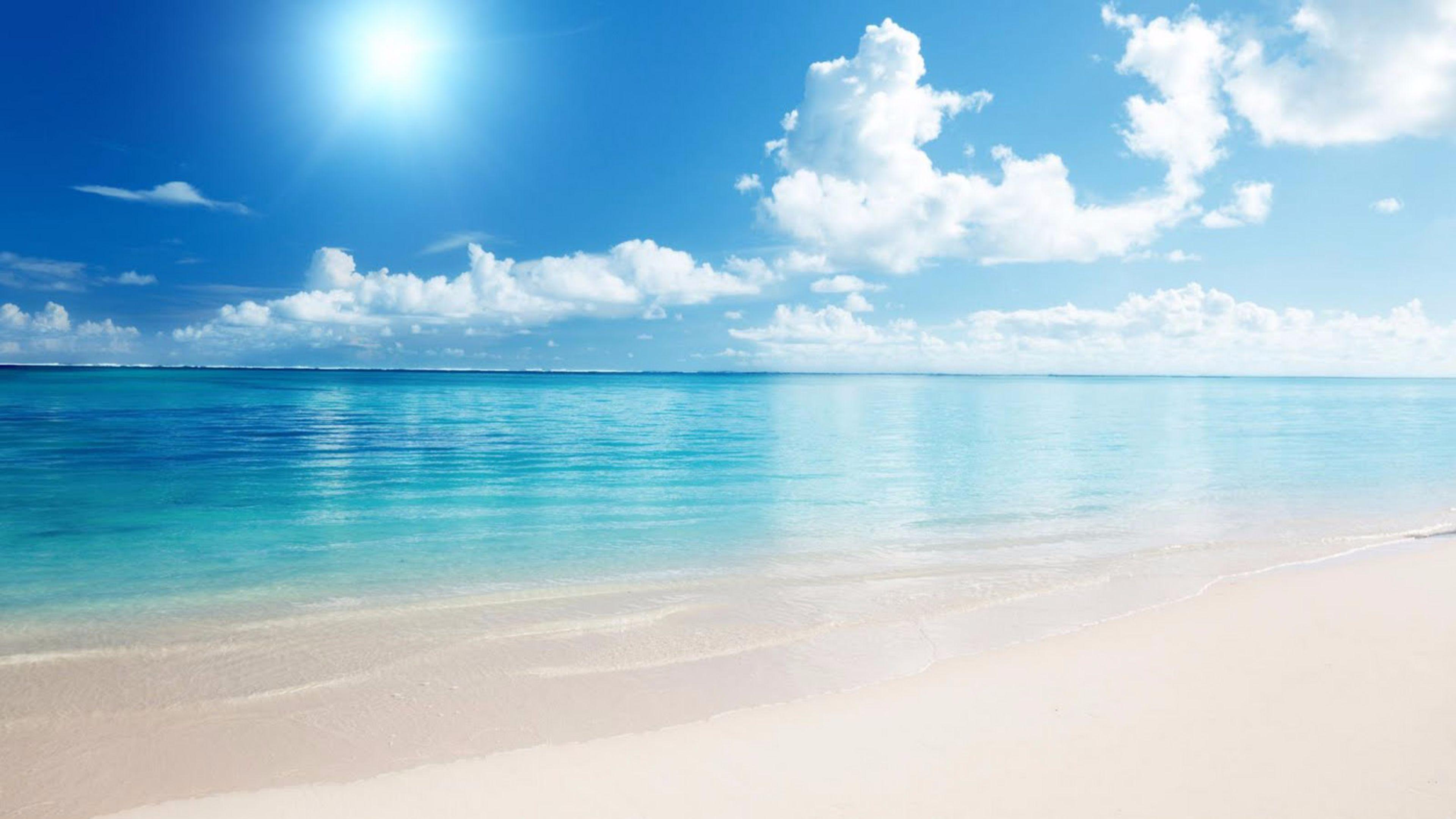 Sun Up on the Beach 4K Wallpaper 4K Wallpaper 3840x2160