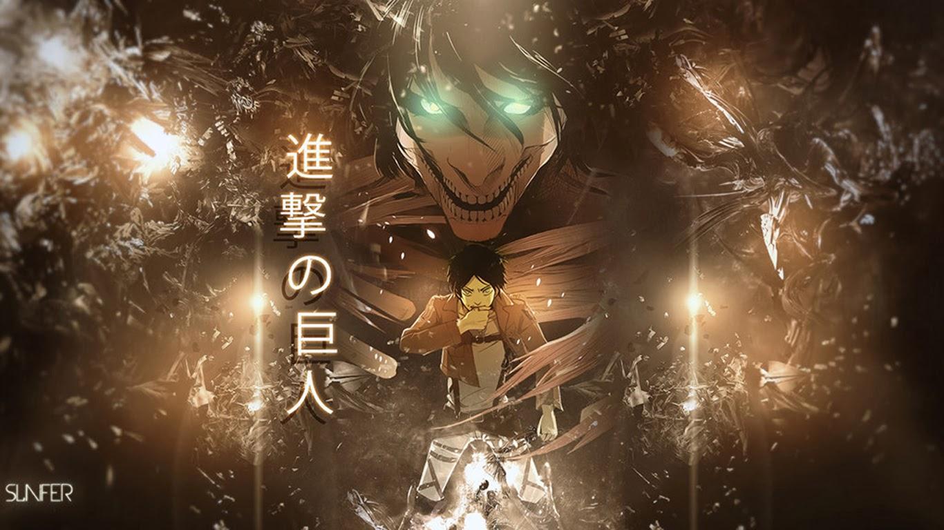 rogue titan form attack on titan shingeki no kyojin anime hd wallpaper 1366x768