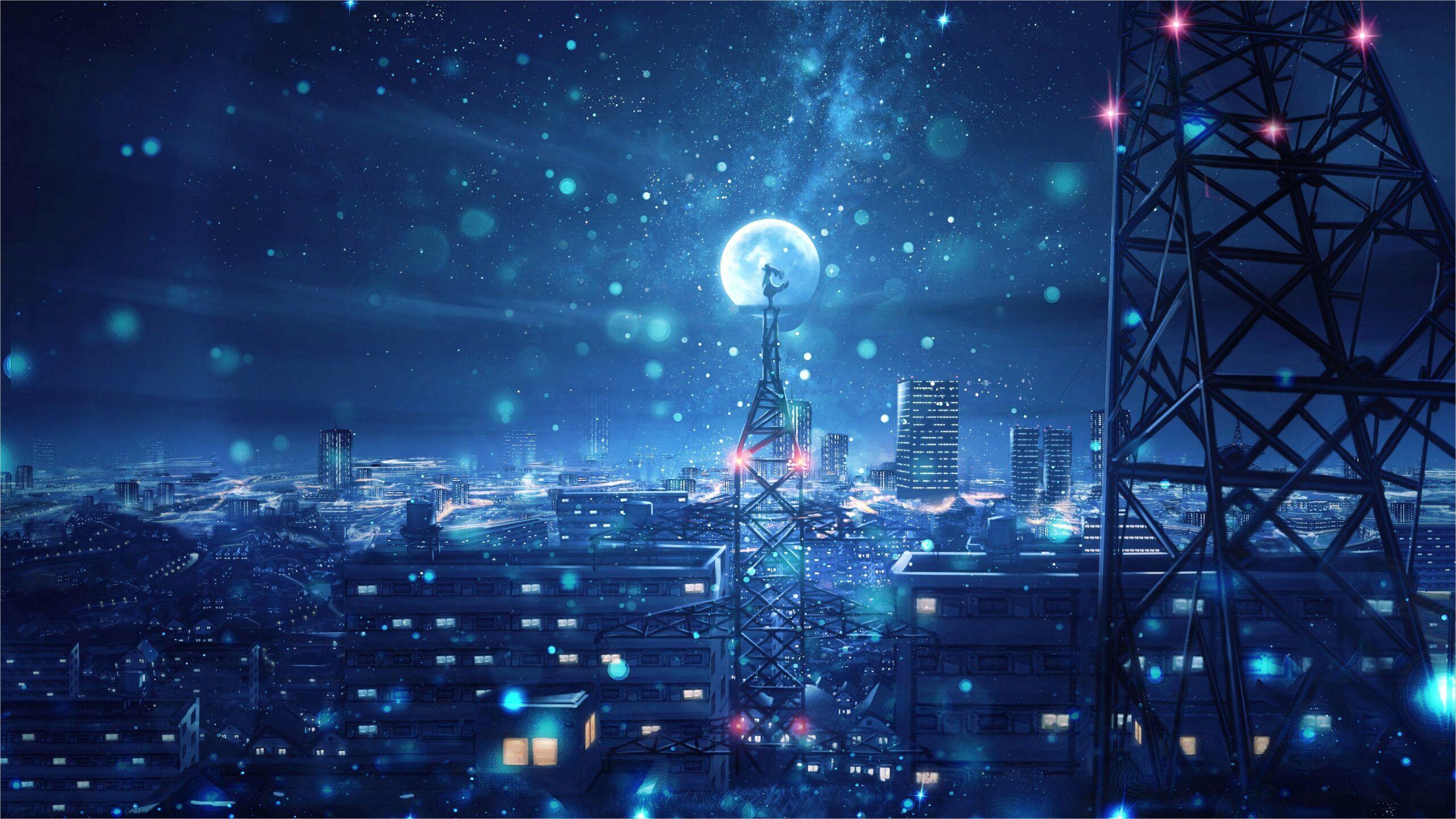 4k Anime Scenery Wallpapers in 2020 Sky anime Night sky 2560x1441