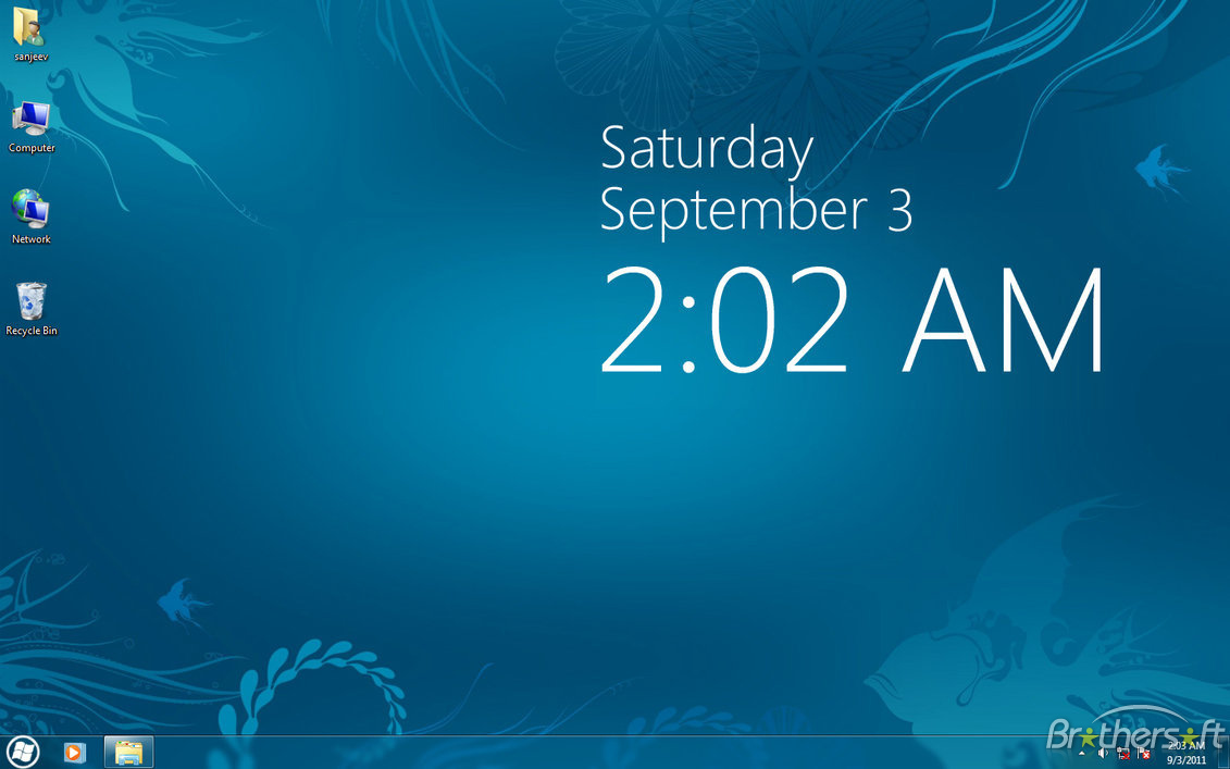 Desktop analogue clock for windows 10