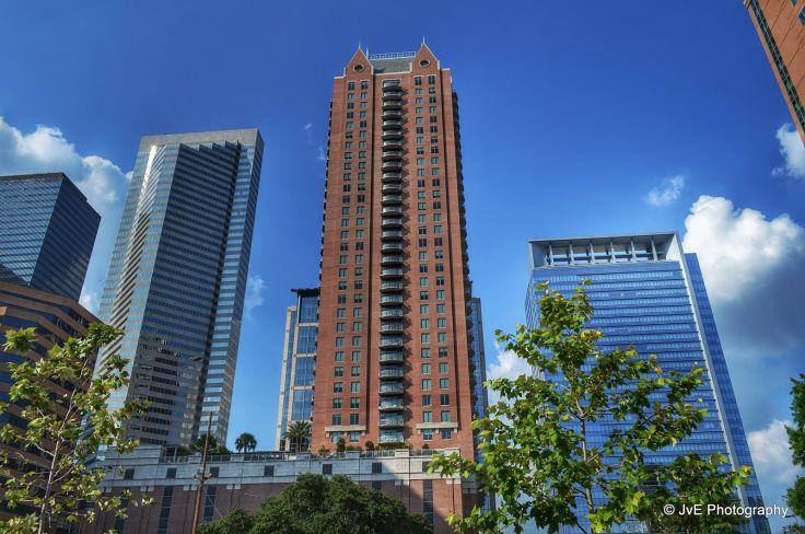 Houston architecture bridges cities City texas Night towers buildings 736x488