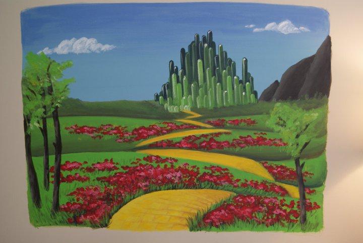 Emerald City wall mural by grandsyeuxbleu 720x482