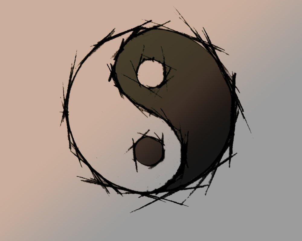 Ying Yang Wallpaper by WooChoo 1000x800