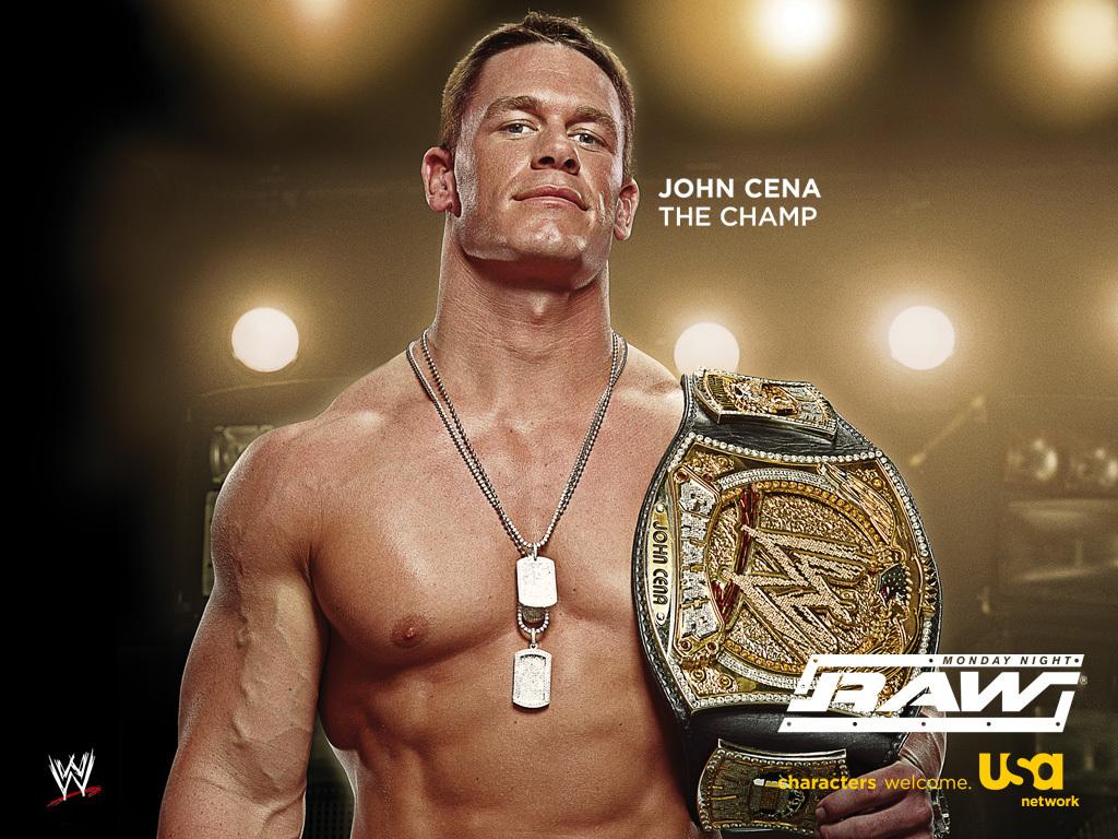 John Cena   WWE Champion   Professional Wrestling Wallpaper 3933224 1024x768