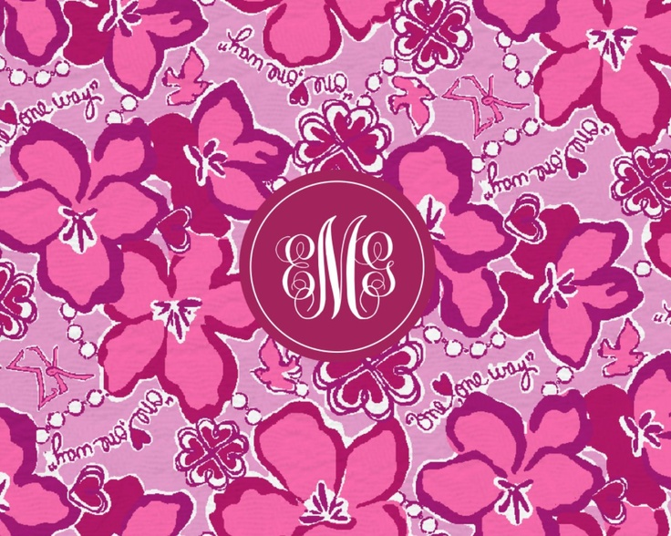 monogram lilly pulitzer desktop wallpaper wallpapersafari