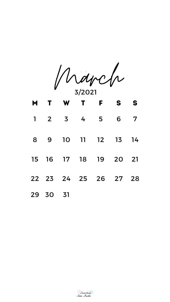 March 2021 wallpaper HD Quotes that describe me Calendar