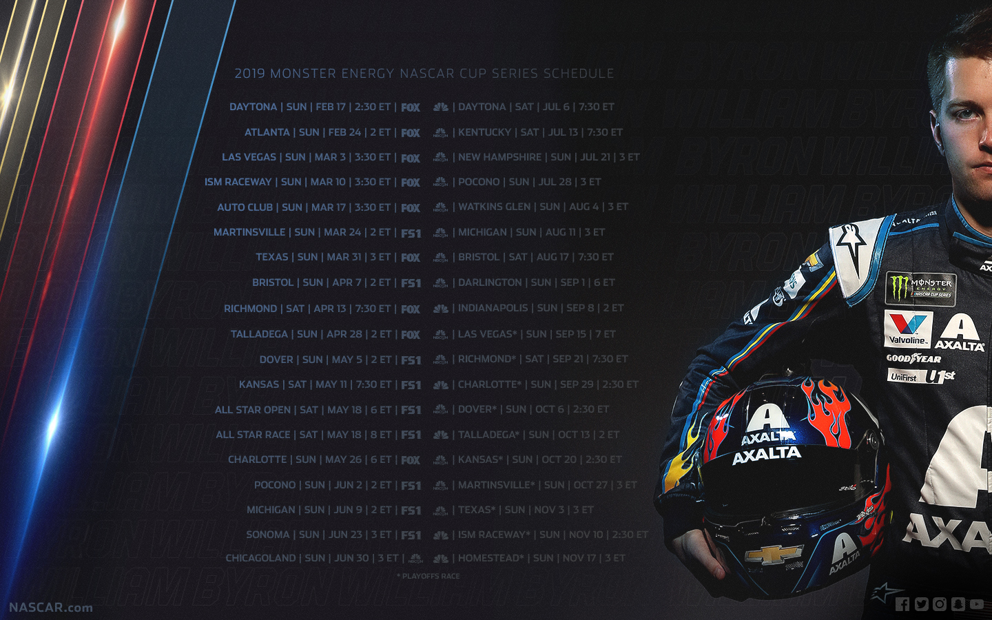 2019 NASCAR Wallpapers Official Site Of NASCAR 1440x900