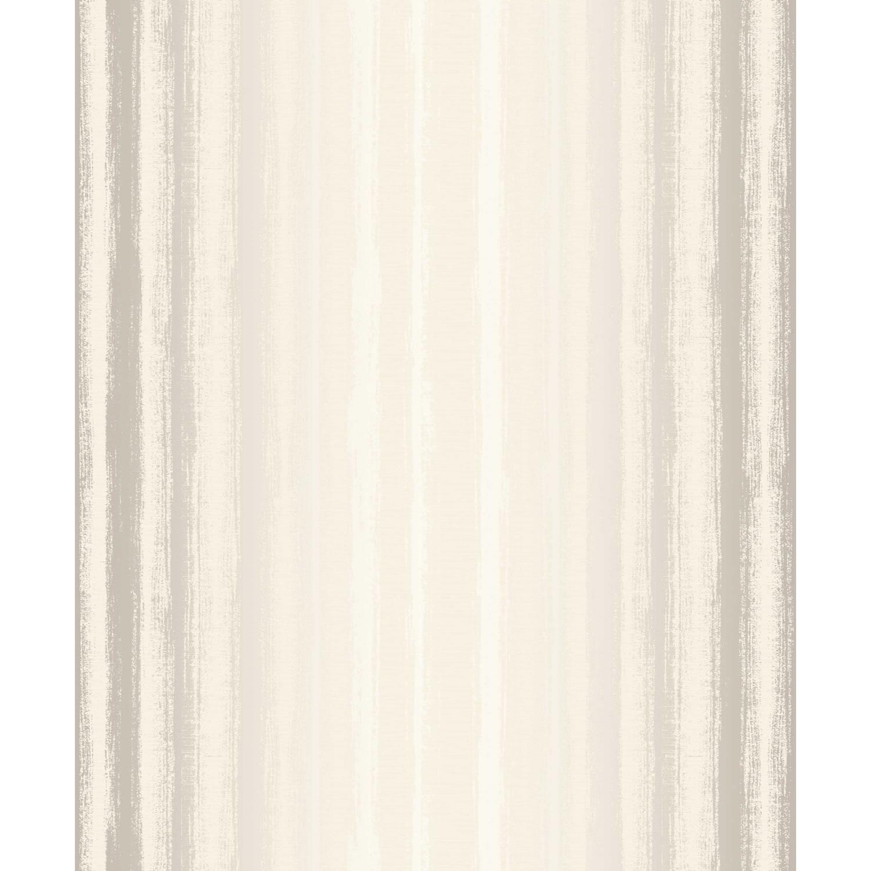 Grandeco Clear Spirit Metallic Stripe on Cream Wallpaper 10m Roll 1500x1500
