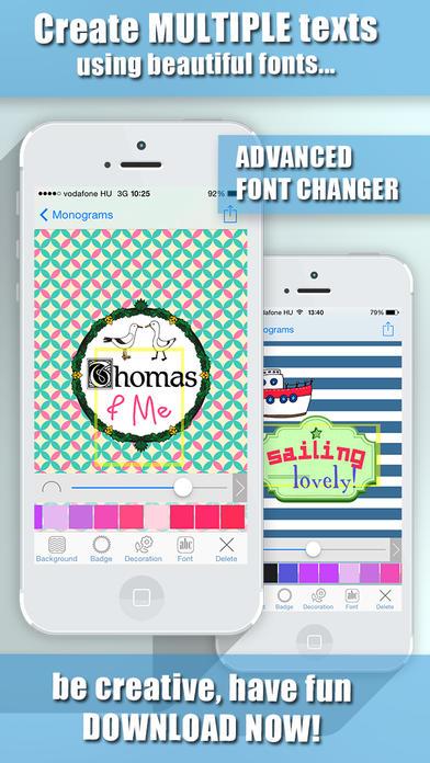 Monogram Wallpaper Maker and Professional Background Design Creator 392x696