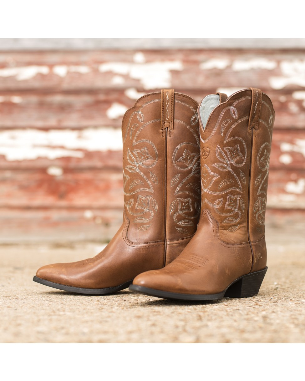 Ariat Womens Heritage Western R Toe Boot   Timber 975x1218