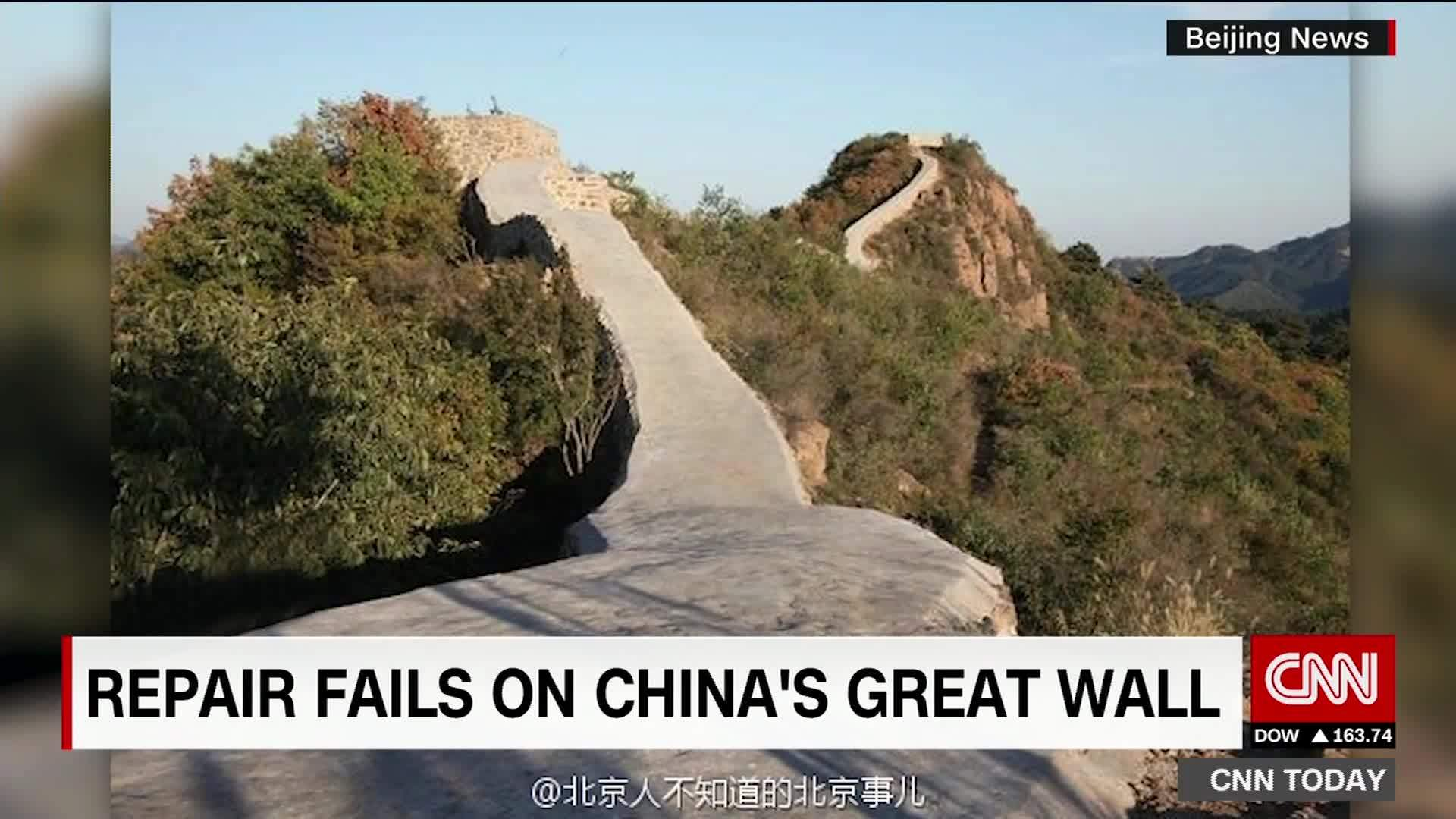 Chinas Great Wall covered in cement CNN Travel 1920x1080