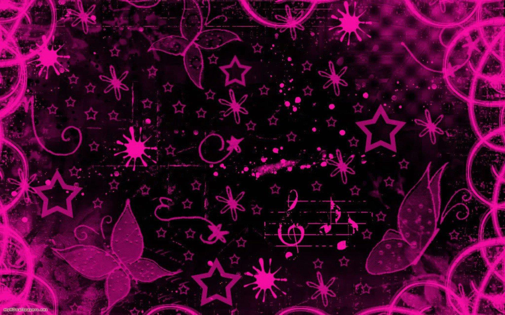 Pink black design   Desktop Wallpaper HD Wallpapers Download and 1680x1050