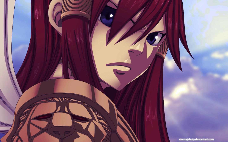 erza scarlet girl fairy tail wallpaper hd anime 1440x900 widescreen 1440x900