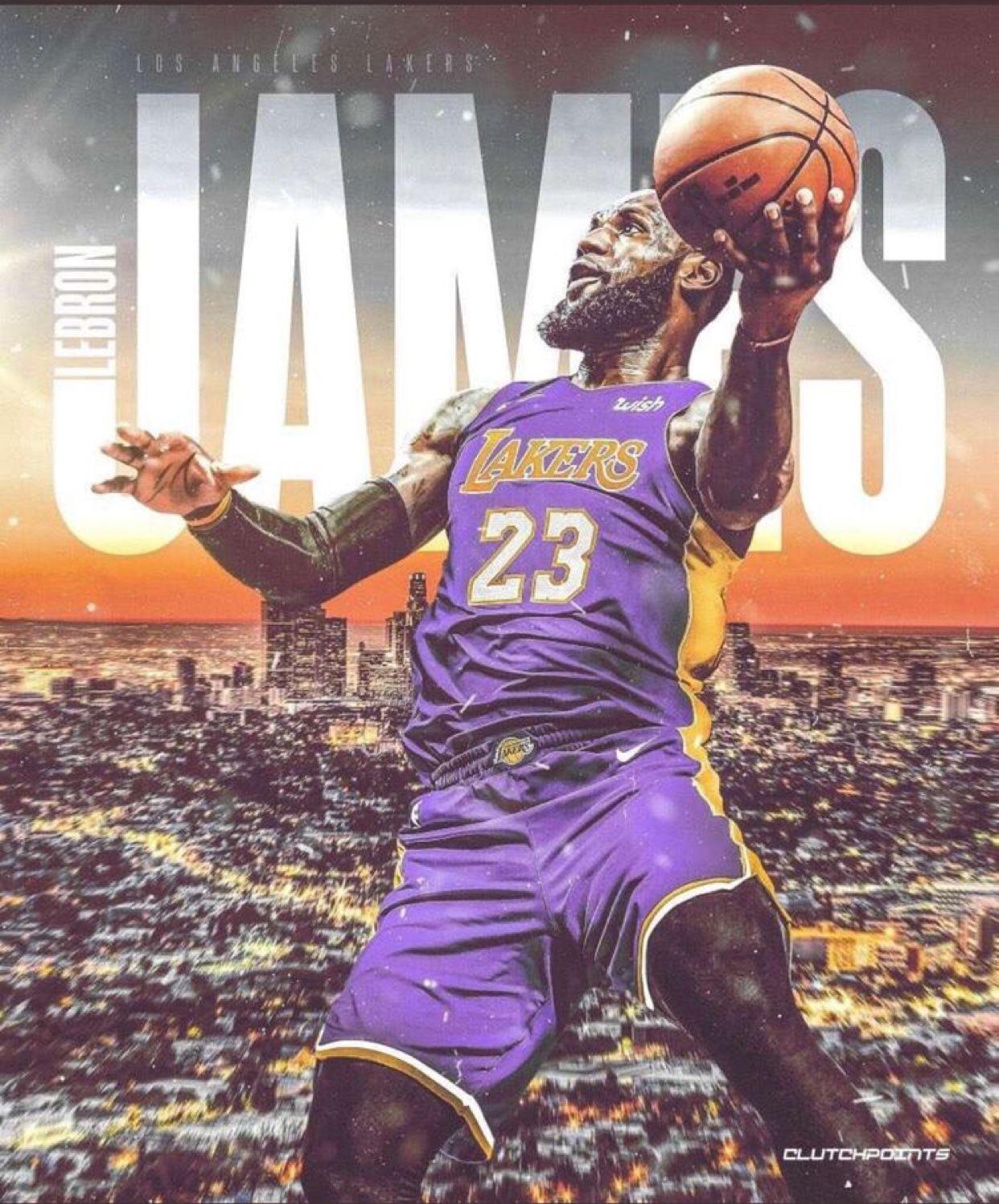 LeBron James Showtime Lebron james wallpapers Lebron James 1242x1497